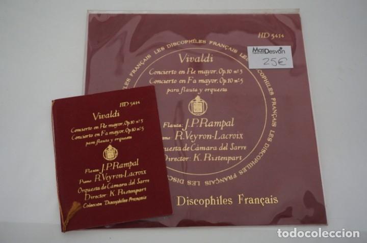 SINGLE - LES DISCOPHILIES FRANÇAIS / VIVALDI CONCIERTO EN RE MAYOR OP.10 Nº 5 / HD 5414 (Música - Discos - Singles Vinilo - Otros estilos)