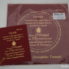 Discos de vinilo: SINGLE - LES DISCOPHILIES FRANÇAIS / VIVALDI CONCIERTO EN RE MAYOR OP.10 Nº 5 / HD 5414. Lote 177305940