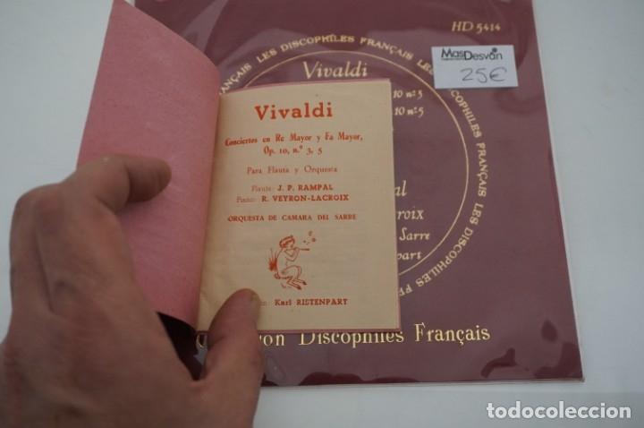 Discos de vinilo: SINGLE - LES DISCOPHILIES FRANÇAIS / VIVALDI CONCIERTO EN RE MAYOR OP.10 Nº 5 / HD 5414 - Foto 2 - 177305940