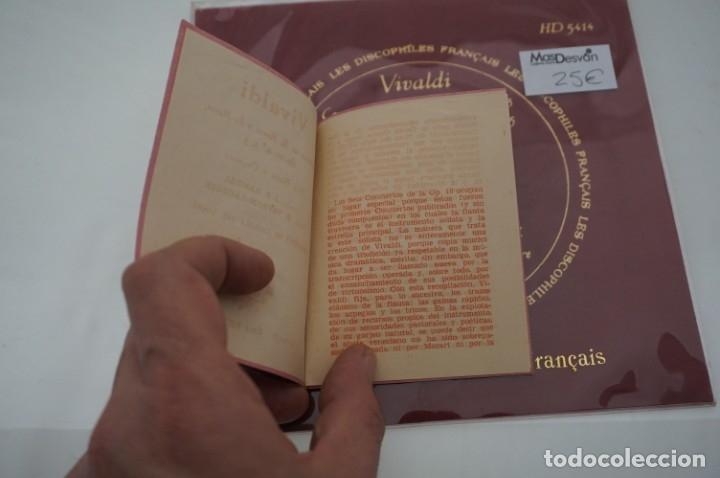 Discos de vinilo: SINGLE - LES DISCOPHILIES FRANÇAIS / VIVALDI CONCIERTO EN RE MAYOR OP.10 Nº 5 / HD 5414 - Foto 3 - 177305940