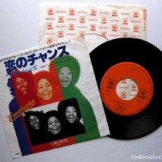 Discos de vinilo: THE EMOTIONS - I DON'T WANNA LOSE YOUR LOVE - SINGLE CBS/SONY 1976 JAPAN (EDICIÓN JAPONESA) BPY. Lote 177313200