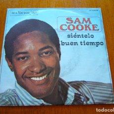 Discos de vinilo: SAM COOKE - SIÉNTELO 1968 ORIGINAL SINGLE. Lote 177313818