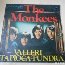 Discos de vinilo: MONKEES, SG, VALLERI + 1, AÑO 1968. Lote 177337090