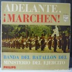 Discos de vinilo: ADELANTEN ¡MARCHEN¡//BANDA DEL BATALLON DEL MINISTERIO DEL EJERCITO//(VG VG). LP. Lote 177342118