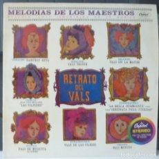 Discos de vinilo: MELODIAS DE LOS MAESTROS//VOL IV//RETRATO DEL VALS//1963// (VG VG). LP. Lote 177344584