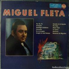Discos de vinilo: MIGUEL FLETA // AY, AY, AY Y OTRAS//1961// (VG VG). LP. Lote 177347124