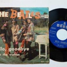 Discos de vinilo: SINGLE - THE BEATLES - HELLO GOODBYE + I AM THE WALRUS (ODEON, 1967) EDICIÓN ESPAÑOLA. Lote 177339570