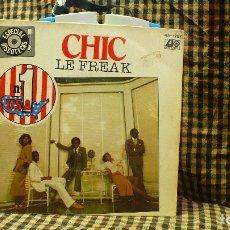 Discos de vinilo: CHIC -- LE FREAK / SAVOIR FAIRE, ATLANTIC 1978.. Lote 177385049