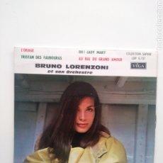 Discos de vinilo: BRUNO LORENZONI & SON ORCHESTRE: L'ORAGE + 3 . EP/FRANCE. Lote 177394317
