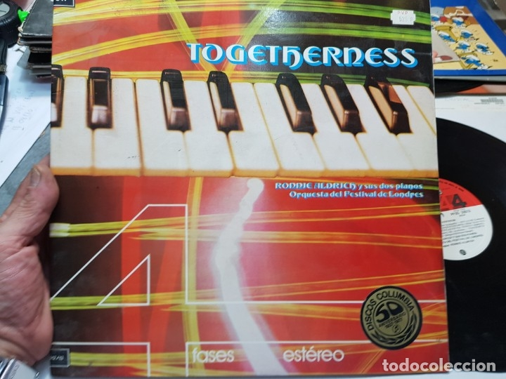DOBLE LP-TOGETHERNESS-DE RONNIE ALDRICH Y SUS 2 PIANOS 1974 (Música - Discos - LP Vinilo - Orquestas)