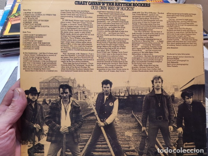 Discos de vinilo: LP-CRAZY CAVAN 'N'THE RHYTHMROCKERS-en funda original 1988 - Foto 2 - 177395632