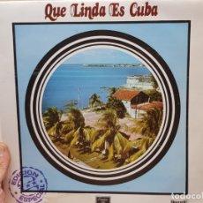 Discos de vinilo: LP-QUE LINDA ES CUBA- EN FUNDA ORIGINAL 1972. Lote 177402710