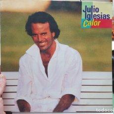 Discos de vinilo: LP-JULIO IGLESIAS-DISCO CALOR EN FUNDA ORIGINAL 1992. Lote 177402968