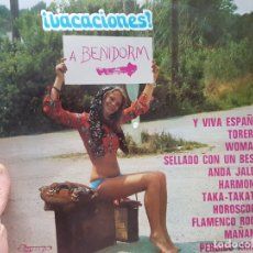Discos de vinilo: LP-VACACIONES A BENIDORM-DISCO EN FUNDA ORIGINAL 1973. Lote 177406369