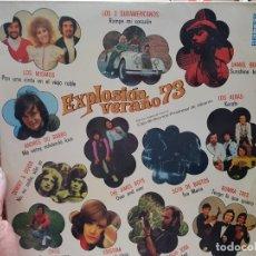 Discos de vinilo: LP-EXPLOSION VERANO 73-DISCO EN FUNDA ORIGINAL 1973. Lote 177406688