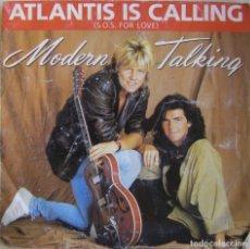 Discos de vinilo: MODERN TALKING-ATLANTIS IS CALLING (S.O.S. FOR LOVE), WEA 248 645-7. Lote 177410890