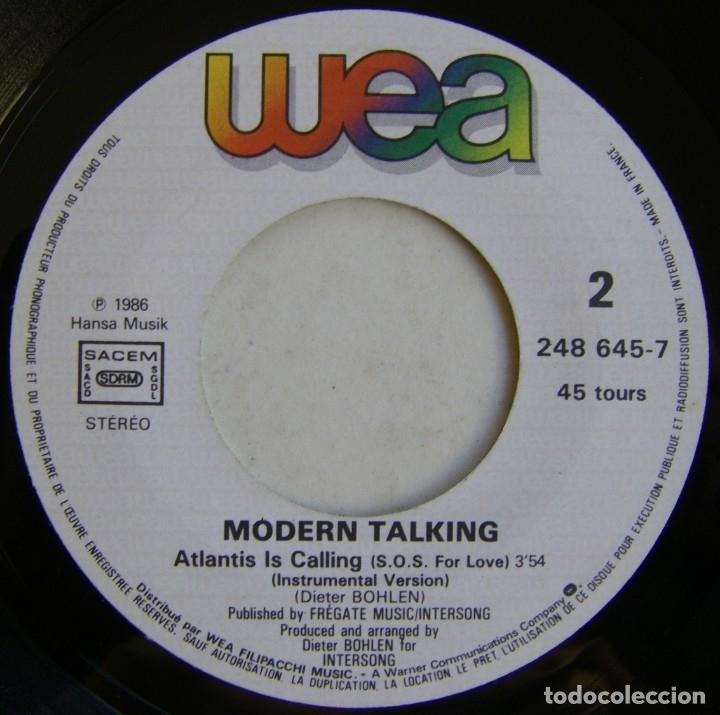 Discos de vinilo: Modern Talking-Atlantis Is Calling (S.O.S. For Love), WEA 248 645-7 - Foto 4 - 177410890
