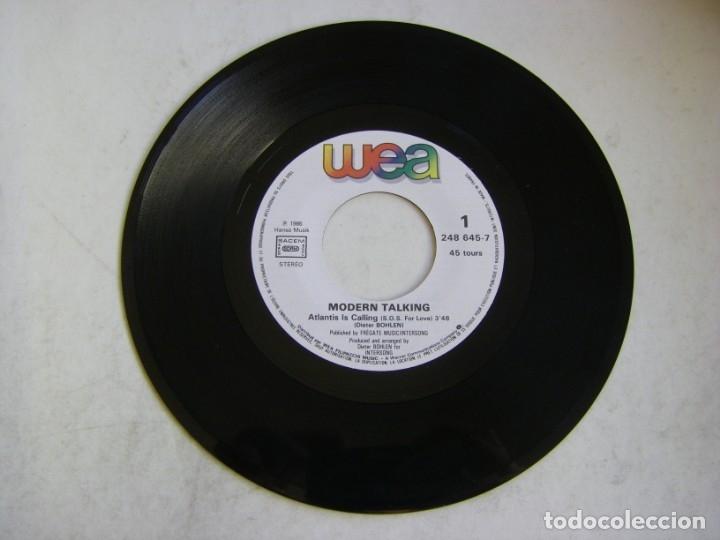 Discos de vinilo: Modern Talking-Atlantis Is Calling (S.O.S. For Love), WEA 248 645-7 - Foto 5 - 177410890