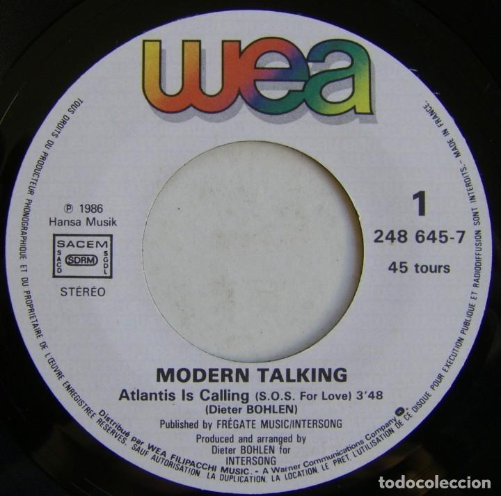 Discos de vinilo: Modern Talking-Atlantis Is Calling (S.O.S. For Love), WEA 248 645-7 - Foto 6 - 177410890
