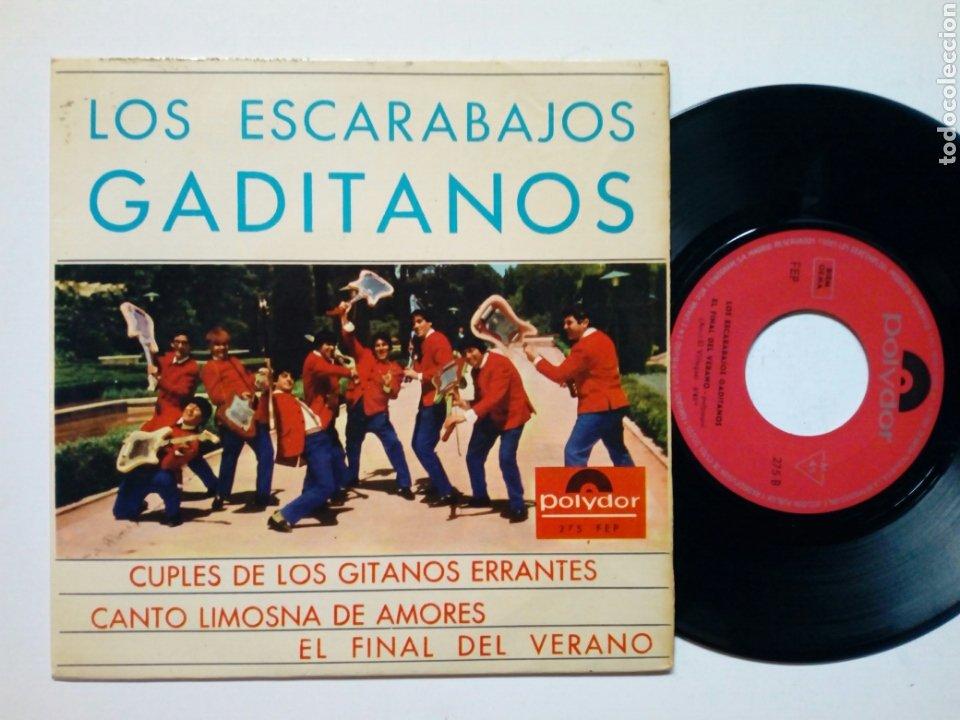LOS ESCARABAJOS GADITANOS - CUPLÉS DE LOS GITANOS ERRANTES + EL FINAL DEL VERANO + 1 (POLYDOR, 1965) (Música - Discos de Vinilo - EPs - Solistas Españoles de los 50 y 60)