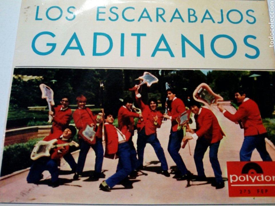 Discos de vinilo: LOS ESCARABAJOS GADITANOS - Cuplés de los Gitanos Errantes + El Final del Verano + 1 (Polydor, 1965) - Foto 3 - 177412334