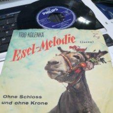 Discos de vinilo: TRIO KOLENKA SINGLE ESEL-MELODIE ALEMANIA 1962. Lote 177416653