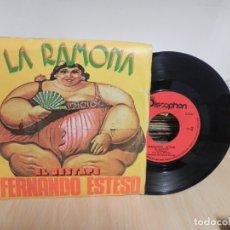 Discos de vinilo: FERNANDO ESTESO - LA RAMONA + EL DESTAPE - SINGLE - DISCOPHON (VER FOTO VER ESTADO FUNDA O CARATULA). Lote 177419707