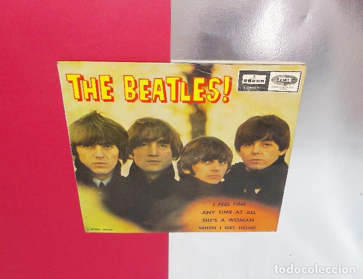 Discos de vinilo: THE BEATLES ----I FEEL FINE -- 1ª EDICION ORIGINAL 1964 ---LABEL AZUL -DSDE 16.637 - Foto 7 - 167546192