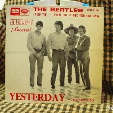 Discos de vinilo: BEATLES - I NEED YOU / YOU'VE GOT TO HIDE YOUR LOVE AWAY / DIZZY MISS LIZZY / YESTERDAY,ODEON 1965.. Lote 177437765
