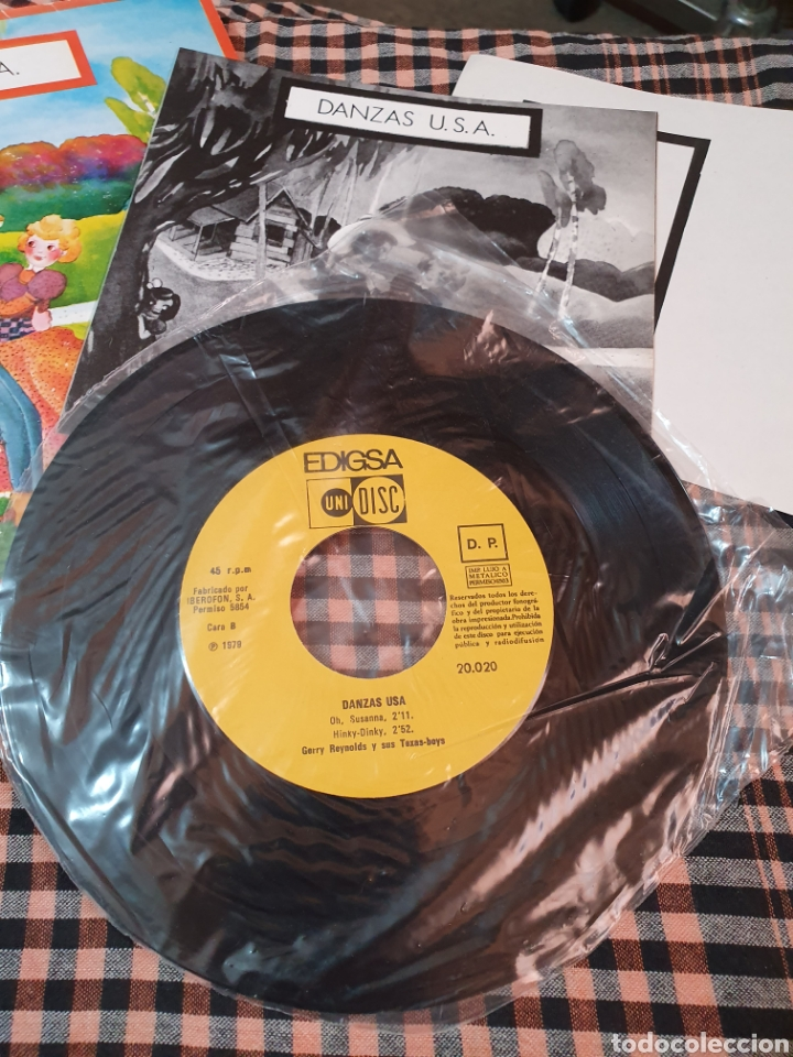 Discos de vinilo: danzas u.s.a / jingle bells / vals mejicano / oh susanna / hiky dinky, edigsa, uni disc 1979. - Foto 9 - 177454879