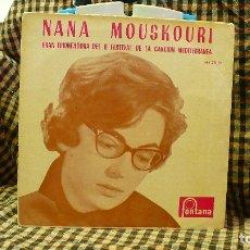 Discos de vinilo: FESTIVAL DE LA CANCION MEDITERRANEA, NANA MOUSKOURI, XYPNA AGAPI MOU, + E TEMAS, FONTANA 1960.. Lote 177456079