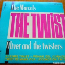 Discos de vinilo: THE MARCELS + OLIVER AND THE TWISTERS - TWIST DOO WOP ORIGINAL EP. Lote 177460647