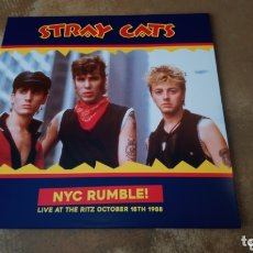 Discos de vinilo: STRAY CATS - NYC RUMBLE! LIVE AT THE RITZ OCTOBER 18 TH 1988 - LP VINILO NUEVO -. Lote 177469679