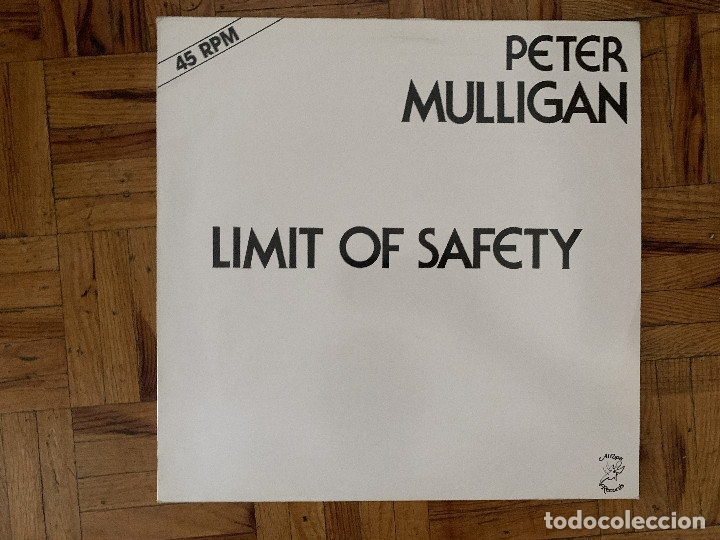 PETER MULLIGAN – LIMIT OF SAFETY SELLO: ATROPA RECORDS – ATR 410420 FORMATO: VINYL, 12 , ONE SIDE (Música - Discos de Vinilo - Maxi Singles - Pop - Rock - New Wave Extranjero de los 80)