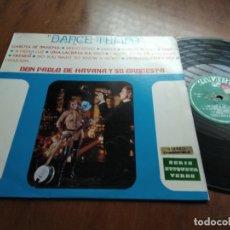 Discos de vinilo: DON PABLO DE HAVANA Y SU ORQUESTA - DANCE TEMPO - LP ZAFIRO - ESPAÑA 1970. Lote 177475190