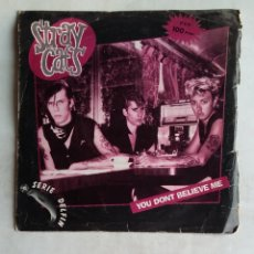 Disques de vinyle: STRAY CATS. YOU DON'T BELIEVE ME/ WASN'T THAT GOOD. SINGLE. TDKDS18. Lote 177475590