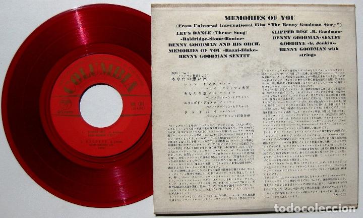 Discos de vinilo: Benny Goodman - Memories Of You - EP Columbia Japan 1956 Rojo (Edición Japonesa) BPY - Foto 2 - 177482258