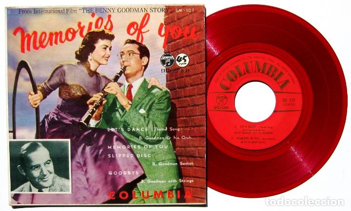 BENNY GOODMAN - MEMORIES OF YOU - EP COLUMBIA JAPAN 1956 ROJO (EDICIÓN JAPONESA) BPY (Música - Discos de Vinilo - EPs - Bandas Sonoras y Actores)