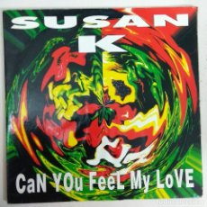 Discos de vinilo: MAXI SINGLE DISCO VINILO SUSAN K CAN YOU FEEL MY LOVE. Lote 177497964