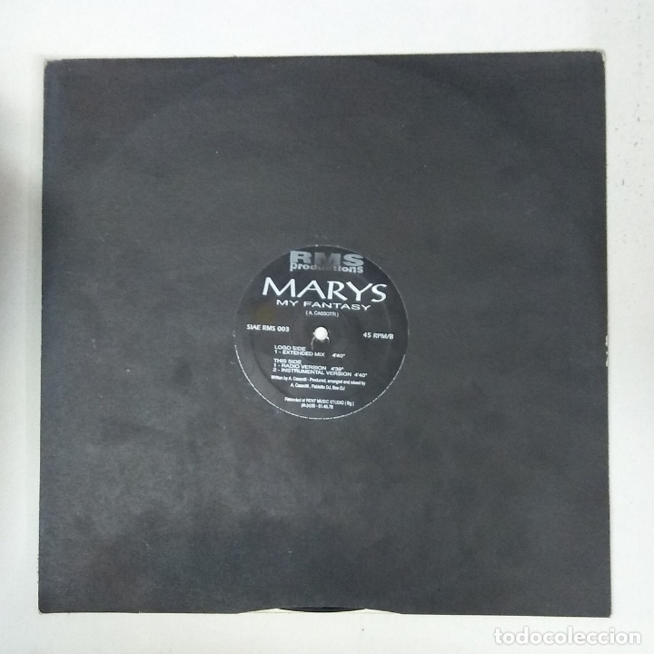 MAXI SINGLE DISCO VINILO MARYS MY FANTASY (Música - Discos de Vinilo - Maxi Singles - Disco y Dance)