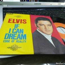 Discos de vinilo: ELVIS PRESLEY SINGLE IF I CAN DREAM ESPAÑA 1968 EN PERFECTO ESTADO. Lote 177498823