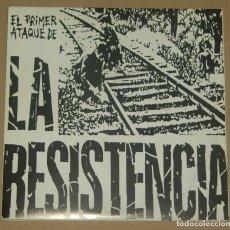 Disques de vinyle: LA RESISTENCIA - EL PRIMER ATAQUE DE - RADIKAL 1977 RECORDS - VINILO ROJO. Lote 177500178