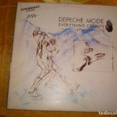 Discos de vinilo: DEPECHE MODE. EVERYTHING COUNTS ( IN LARGER AMOUNTS) MAXI-SINGLE. RCA / MUTE, 1983. SPAIN. IMPECA(#). Lote 177504617