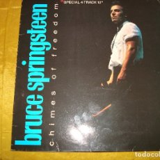 Discos de vinilo: BRUCE SPRINGSTEEN. CHIMES OF FREEDOM. CBS, 1988. MAXI-SINGLE. SPAIN. IMPECABLE (#). Lote 177505644