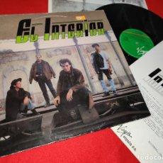Discos de vinilo: EL INTERIOR EL INTERIOR LP 1989 VIRGIN + HOJA PROMO. Lote 177507362
