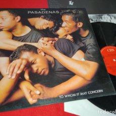 Discos de vinilo: THE PASADENAS TO WHOM IT MAY CONCERN LP 1988 CBS SPAIN ESPAÑA. Lote 177511255