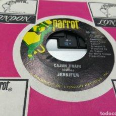 Discos de vinilo: JENNIFER SINGLE CAJUN TRAIN U.K. 1970. Lote 177512389