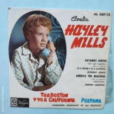 Discos de vinilo: EP ESPAÑOL - HAYLEY MILLS - VAYAMOS JUNTOS. Lote 189533010