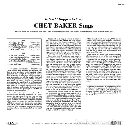 Discos de vinilo: CHET BAKER * LP 180g HQ Heavyweight * It Could Happen To You * Precintado!! - Foto 2 - 177529462