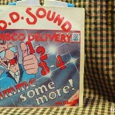 Discos de vinilo: D.D. SOUND ?– DISCO DELIVERY -- 1,2,3,4 GIME SOME MORE / WE LIKE IT, EMI ODEON 1978.. Lote 177567094